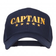Five Stars Captain Embroidered Cap - Navy