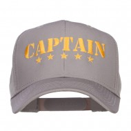 Five Stars Captain Embroidered Cap - Grey