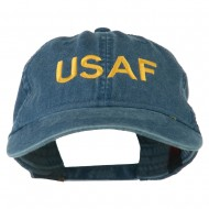 USAF Embroidered Military Washed Cap - Navy