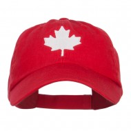 Canada Maple Leaf Embroidered Low Cap - Red