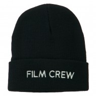 Film Crew Embroidered Long Beanie - Navy