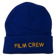 Film Crew Embroidered Long Beanie - Royal
