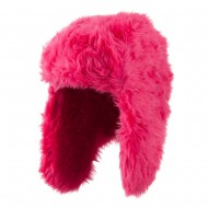 Faux Fur Color Trooper Hat - Fuchsia