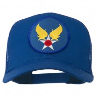 Air Force Military Patched Mesh Cap - Royal
