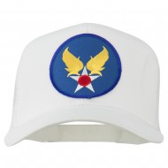 Air Force Military Patched Mesh Cap - White
