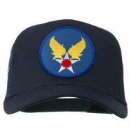 Air Force Military Patched Mesh Cap - Navy