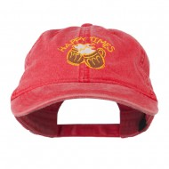 Good Times Beer Image Embroidered Washed Cap - Red