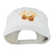 Good Times Beer Image Embroidered Washed Cap - White