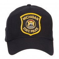 Michigan State Police Patched Cap - Black