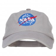 NASA Insignia Embroidered Garment Washed Cap - Grey