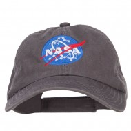 NASA Insignia Embroidered Garment Washed Cap - Charcoal Grey