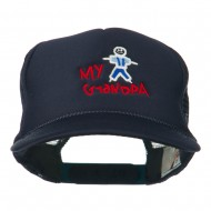 My Grandpa Embroidered Youth Foam Mesh Cap - Navy