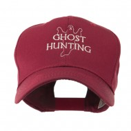 Ghost Outline with Hunting Embroidered Cap - Maroon