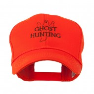 Ghost Outline with Hunting Embroidered Cap - Orange