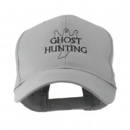 Ghost Outline with Hunting Embroidered Cap - Grey