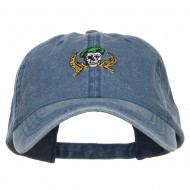 Green Beret Crest Embroidered Washed Cap - Navy