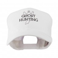 Ghost Outline with Hunting Embroidered Cap - White