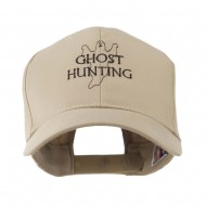 Ghost Outline with Hunting Embroidered Cap - Khaki