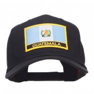 Guatemala Flag Embroidered Patch Cap - Black