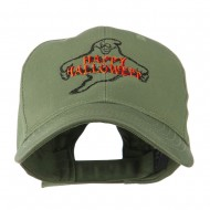 Goofy Ghost Happy Halloween Embroidered Cap - Olive