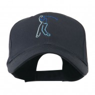 Male Golfer Outline Embroidered Cap - Navy