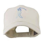 Male Golfer Outline Embroidered Cap - Stone