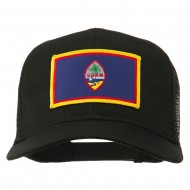 Guam Flag Patched Mesh Cap - Black