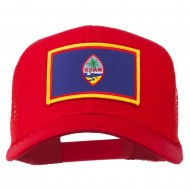 Guam Flag Patched Mesh Cap - Red
