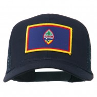 Guam Flag Patched Mesh Cap - Navy