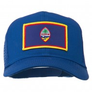 Guam Flag Patched Mesh Cap - Royal