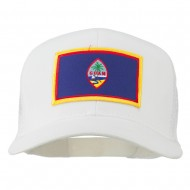 Guam Flag Patched Mesh Cap - White