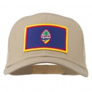 Guam Flag Patched Mesh Cap - Khaki