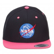 NASA Logo Embroidered Two Tone Cap - Black Pink