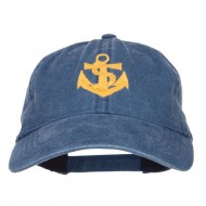 Anchor Logo Embroidered Washed Cap - Navy
