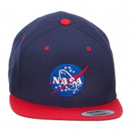 NASA Logo Embroidered Two Tone Cap - Navy Red
