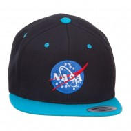 NASA Logo Embroidered Two Tone Cap - Black Teal