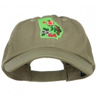 USA State Georgia Patched Low Profile Cap - Olive