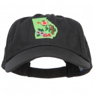 USA State Georgia Patched Low Profile Cap - Black