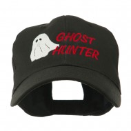 Halloween Ghost Hunter Embroidered Cap - Black