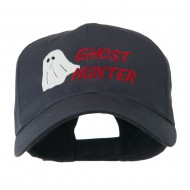 Halloween Ghost Hunter Embroidered Cap - Navy