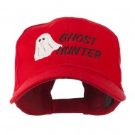 Halloween Ghost Hunter Embroidered Cap - Red