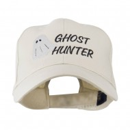 Halloween Ghost Hunter Embroidered Cap - Stone