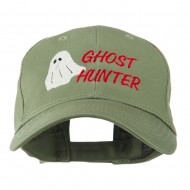 Halloween Ghost Hunter Embroidered Cap - Olive
