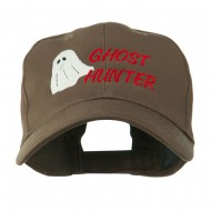 Halloween Ghost Hunter Embroidered Cap - Brown
