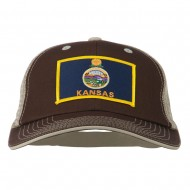 Big Mesh State Kansas Patch Cap - Brown Beige