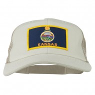 Big Mesh State Kansas Patch Cap - Putty Beige