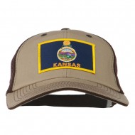 Big Mesh State Kansas Patch Cap - Khaki Brown