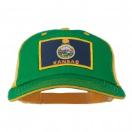 Big Mesh State Kansas Patch Cap - Kelly Gold