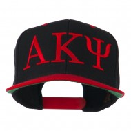 Alpha Kappa Psi Embroidered Cap - Red Black