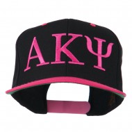 Alpha Kappa Psi Embroidered Cap - Pink Black